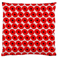 Red Peony Flower Pattern Large Cushion Cases (two Sides)  by creativemom