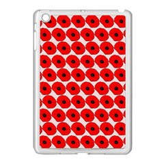 Red Peony Flower Pattern Apple Ipad Mini Case (white) by creativemom
