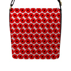 Red Peony Flower Pattern Flap Messenger Bag (l)  by creativemom
