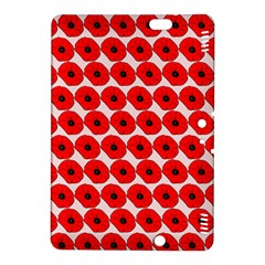 Red Peony Flower Pattern Kindle Fire Hdx 8 9  Hardshell Case by creativemom