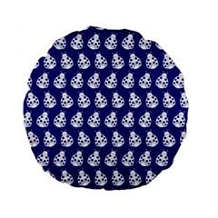 Ladybug Vector Geometric Tile Pattern Standard 15  Premium Flano Round Cushions by creativemom