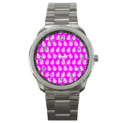 Ladybug Vector Geometric Tile Pattern Sport Metal Watches by creativemom