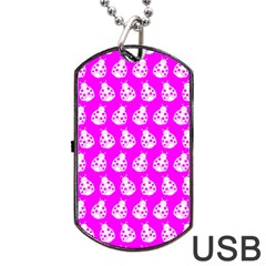 Ladybug Vector Geometric Tile Pattern Dog Tag Usb Flash (two Sides)  by creativemom