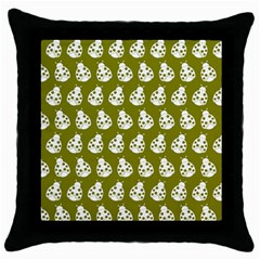 Ladybug Vector Geometric Tile Pattern Throw Pillow Cases (black) by creativemom