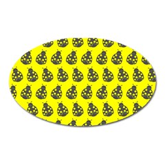 Ladybug Vector Geometric Tile Pattern Oval Magnet by creativemom