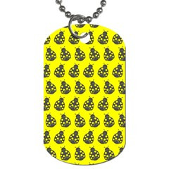 Ladybug Vector Geometric Tile Pattern Dog Tag (two Sides) by creativemom