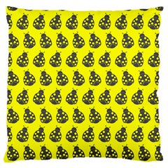 Ladybug Vector Geometric Tile Pattern Large Flano Cushion Cases (two Sides)  by creativemom