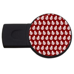 Ladybug Vector Geometric Tile Pattern Usb Flash Drive Round (2 Gb)  by creativemom