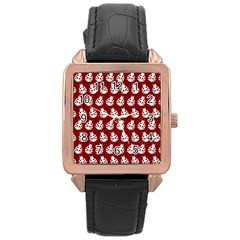 Ladybug Vector Geometric Tile Pattern Rose Gold Watches by creativemom