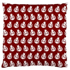 Ladybug Vector Geometric Tile Pattern Large Flano Cushion Cases (one Side)  by creativemom