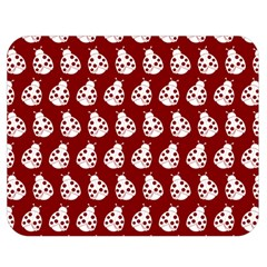 Ladybug Vector Geometric Tile Pattern Double Sided Flano Blanket (Medium)  by creativemom