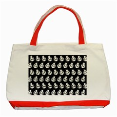 Ladybug Vector Geometric Tile Pattern Classic Tote Bag (red)  by creativemom
