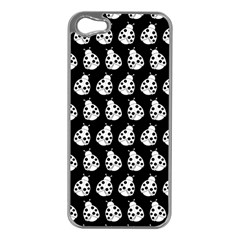 Ladybug Vector Geometric Tile Pattern Apple Iphone 5 Case (silver) by creativemom