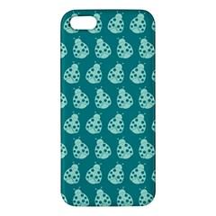 Ladybug Vector Geometric Tile Pattern Apple Iphone 5 Premium Hardshell Case by creativemom