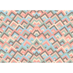 Trendy Chic Modern Chevron Pattern Birthday Cake 3d Greeting Card (7x5)  by creativemom