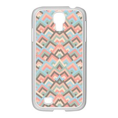 Trendy Chic Modern Chevron Pattern Samsung Galaxy S4 I9500/ I9505 Case (white) by creativemom