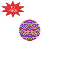 Colorful Trendy Chic Modern Chevron Pattern 1  Mini Magnet (10 Pack)  by creativemom