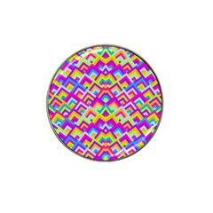 Colorful Trendy Chic Modern Chevron Pattern Hat Clip Ball Marker by creativemom