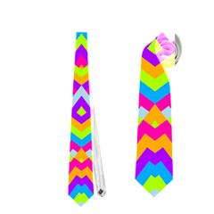 Colorful Trendy Chic Modern Chevron Pattern Neckties (One Side)