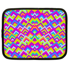 Colorful Trendy Chic Modern Chevron Pattern Netbook Case (large)	 by creativemom