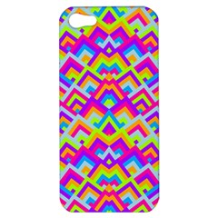 Colorful Trendy Chic Modern Chevron Pattern Apple Iphone 5 Hardshell Case by creativemom