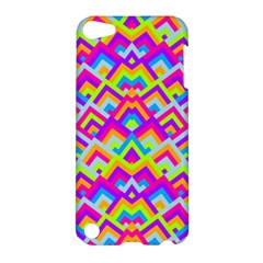 Colorful Trendy Chic Modern Chevron Pattern Apple Ipod Touch 5 Hardshell Case by creativemom