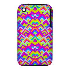 Colorful Trendy Chic Modern Chevron Pattern Apple Iphone 3g/3gs Hardshell Case (pc+silicone) by creativemom