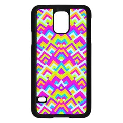 Colorful Trendy Chic Modern Chevron Pattern Samsung Galaxy S5 Case (black) by creativemom