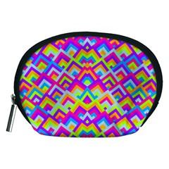 Colorful Trendy Chic Modern Chevron Pattern Accessory Pouches (medium)  by creativemom