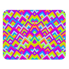 Colorful Trendy Chic Modern Chevron Pattern Double Sided Flano Blanket (large)  by creativemom