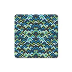 Trendy Chic Modern Chevron Pattern Square Magnet by creativemom