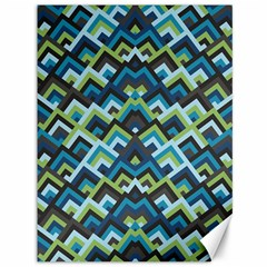 Trendy Chic Modern Chevron Pattern Canvas 36  X 48   by creativemom