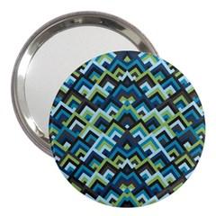 Trendy Chic Modern Chevron Pattern 3  Handbag Mirrors by creativemom