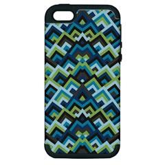 Trendy Chic Modern Chevron Pattern Apple Iphone 5 Hardshell Case (pc+silicone) by creativemom