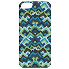 Trendy Chic Modern Chevron Pattern Apple Iphone 5 Classic Hardshell Case by creativemom