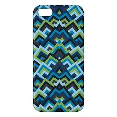Trendy Chic Modern Chevron Pattern Apple Iphone 5 Premium Hardshell Case by creativemom