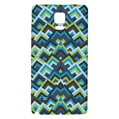 Trendy Chic Modern Chevron Pattern Galaxy Note 4 Back Case by creativemom