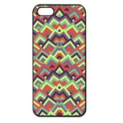 Trendy Chic Modern Chevron Pattern Apple Iphone 5 Seamless Case (black)