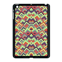 Trendy Chic Modern Chevron Pattern Apple Ipad Mini Case (black) by creativemom