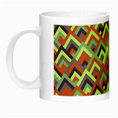 Trendy Chic Modern Chevron Pattern Night Luminous Mugs by creativemom