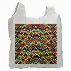 Trendy Chic Modern Chevron Pattern Recycle Bag (Two Side)  by creativemom