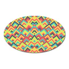 Trendy Chic Modern Chevron Pattern Oval Magnet by creativemom