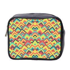 Trendy Chic Modern Chevron Pattern Mini Toiletries Bag 2 Side by creativemom