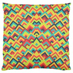 Trendy Chic Modern Chevron Pattern Large Cushion Cases (one Side)  by creativemom