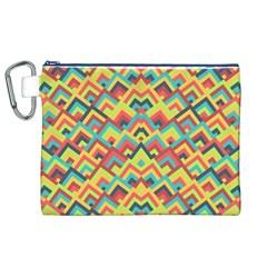 Trendy Chic Modern Chevron Pattern Canvas Cosmetic Bag (XL)  by creativemom