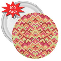 Trendy Chic Modern Chevron Pattern 3  Buttons (100 pack)  by creativemom