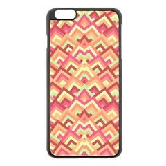 Trendy Chic Modern Chevron Pattern Apple Iphone 6 Plus Black Enamel Case by creativemom