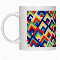 Trendy Chic Modern Chevron Pattern White Mugs by creativemom