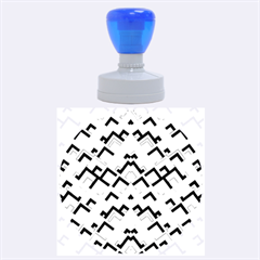 Trendy Chic Modern Chevron Pattern Rubber Round Stamps (large) by creativemom