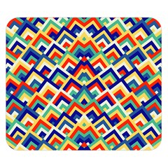 Trendy Chic Modern Chevron Pattern Double Sided Flano Blanket (small)  by creativemom